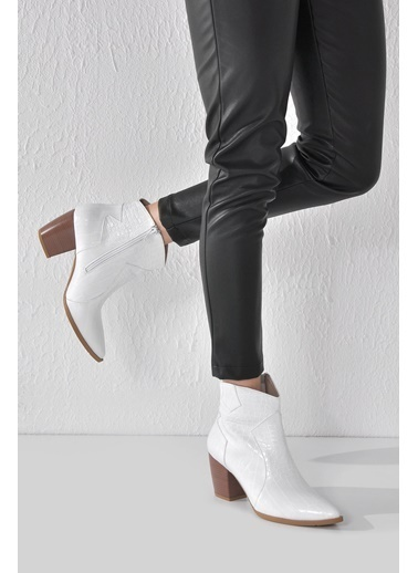 Vizon Ayakkabı Bot Beyaz